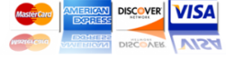 Visa Mastercard American Express Discover Accepted in92071